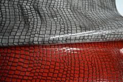 «Санда» - кожа лаковая для верха обуви с художественным тонированием  из спилка от КРС